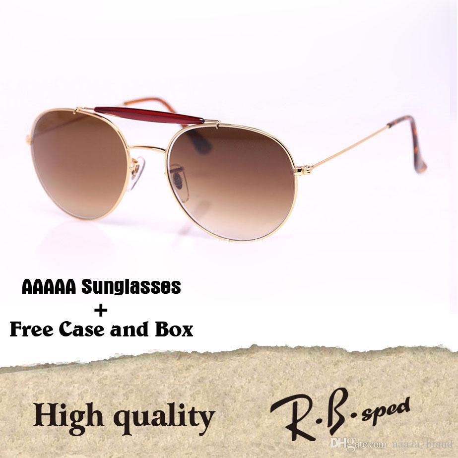 34c1c79d7f9 Wholesale Brand Designer Gradient Glass Lens Steampunk Sunglasses Men Women  Oval Metal Frame Retro Glasses With Free Case And Box John Lennon Sunglasses  ...