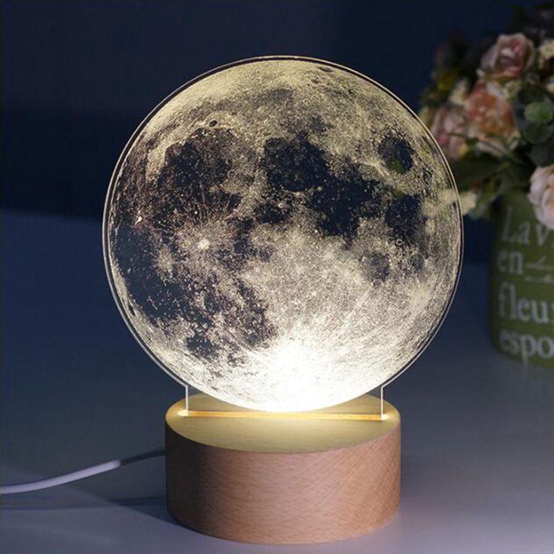 2018 LukLoy USB Dimmable Creativity Nightlight Acrylic Milky Way ...