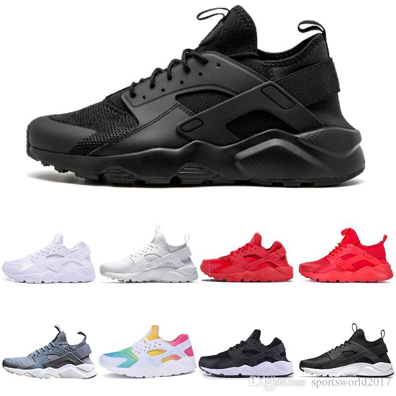 designer fashion d0890 cb5c7 Acheter Nike Air Huarache Chaussures De Course Huarache Ultra Run 4 Chaussures  Pour Hommes Femmes Triple Blanc Noir Rose Sport Chaussure Hommes Femmes ...