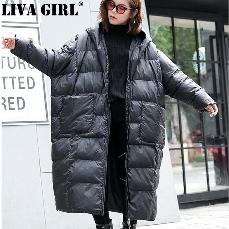 d444a89833e Wholesale Winter New Fashion Loose Long Parkas Full Sleeve Casual Simple  Loose Big Size Trendy Hooded Women Cotton-padded Online with $118.81/Piece  on ...