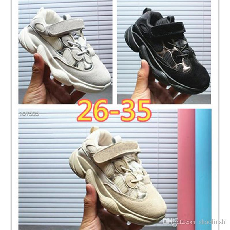 2cbf3a5b7689 2018 Kanye West Casual Shoes 500 Boys Girls Holiday Gifts Kids Sports  Running Shoes Children S Sneakers Eur 26 35 Kids Sneakers Sale Kids Sneaker  Sale From ...