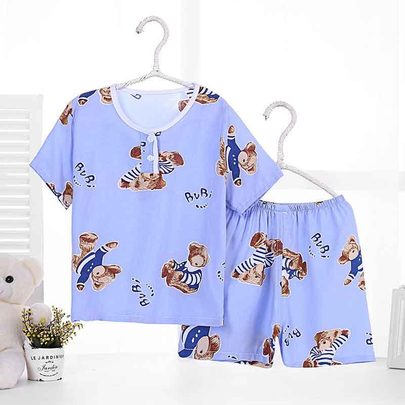 f1cbf27e9 Pure Color Children S Pajamas Set Printing Anime Pattern Nightie Kit ...