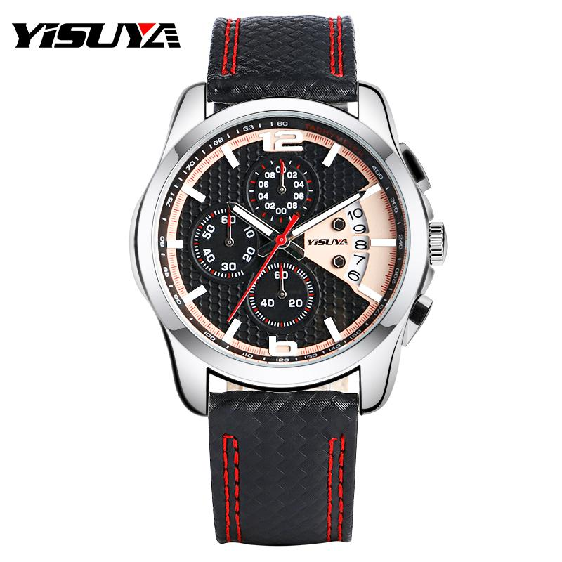 af1d99b80 YISUYA Genuine Leather Band Fashion Men Wrist Watch Pilot Daily Water  Resistant Outdoor Analog Quartz Date Quartz Army High Quality Watches  Watches For Less ...