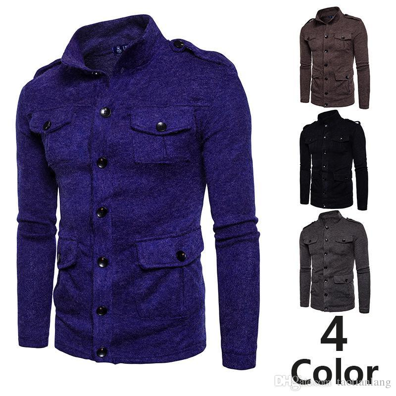 Men s Sueter Hombre Sweater Coat Fashion Autumn Winter Snowflake Thick Warm Knitwear  Cardigan Casual Size 2XL J180908 5XL Thick Men Down Coats Coats Hooded ... ae574d8be
