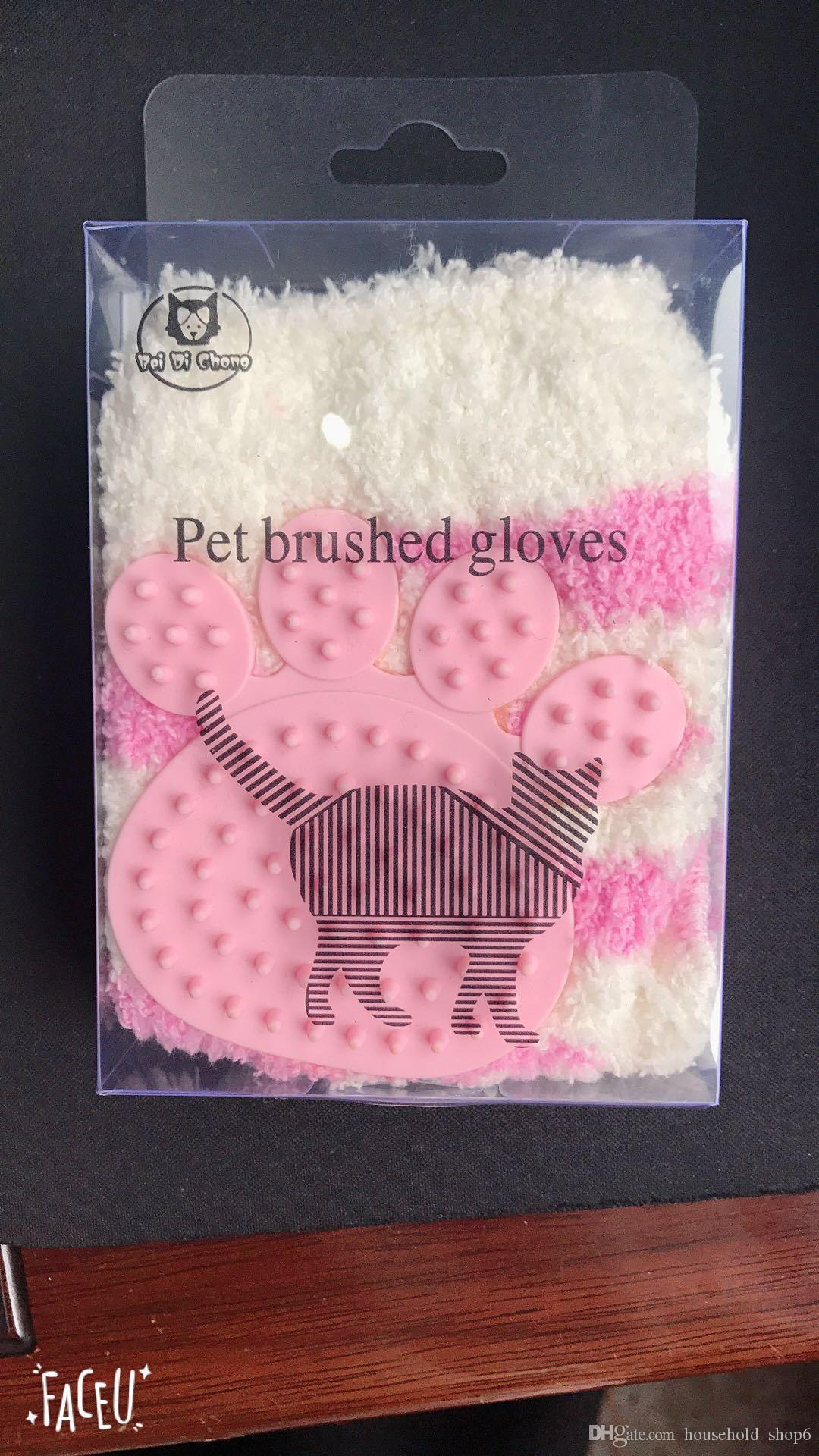 Hot Pet Grooming Golve Cat Hair Remove Brush Comb Dog Cleaning Massage Tool Pet Grooming Supplies
