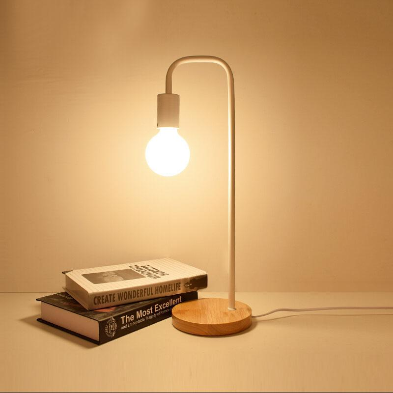 2019 Loft Vintage Desk Lamp With 2 American Countryside Wooden