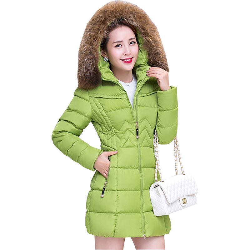 a95b9c9a4 Compre Chaquetas De Invierno Para Mujer Y Abrigos Nuevo 2018 Una Palabra  Niñas Chaqueta Larga Coreana Grueso Abrigo De Algodón Ropa De Vestir YL207  A  35.86 ...