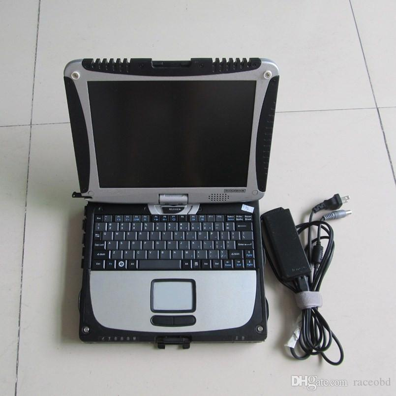 para mb c4 star sd herramienta de diagnóstico para automóviles y camiones con disco duro con cf 19 pantalla táctil de la mesa del ordenador portátil diagnosticar