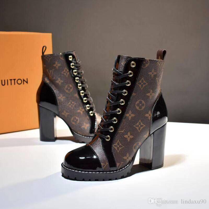 Acheter Marque De Luxe Rétro Ultra Cheville Bottes En Cuir Femmes Designers  Chaussures Meilleure Qualité Bottes Pour Dames Automne Hiver Bottes Plus La  ... c4f4c03db4a7