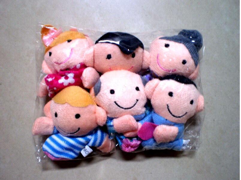 6 قطعة / الحقيبة فنجر الدمى قصة عائلة سعيدة دمى قصة دعم الأطفال الطفل ألعاب تعليمية بالجملة