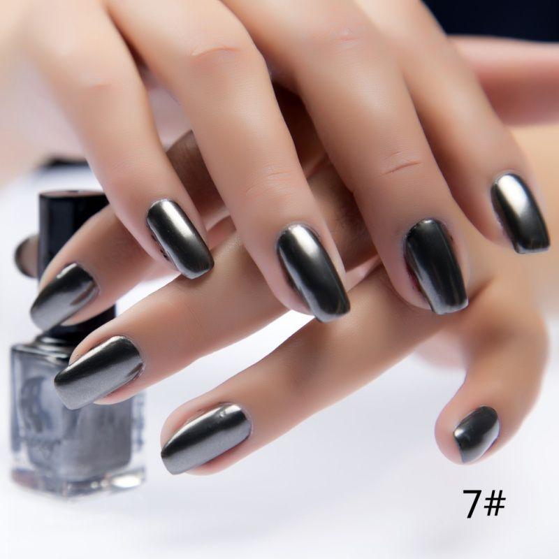 Wholesale-New Metalic Nail Polish Stainless Steel Mirror Silver Nail ...