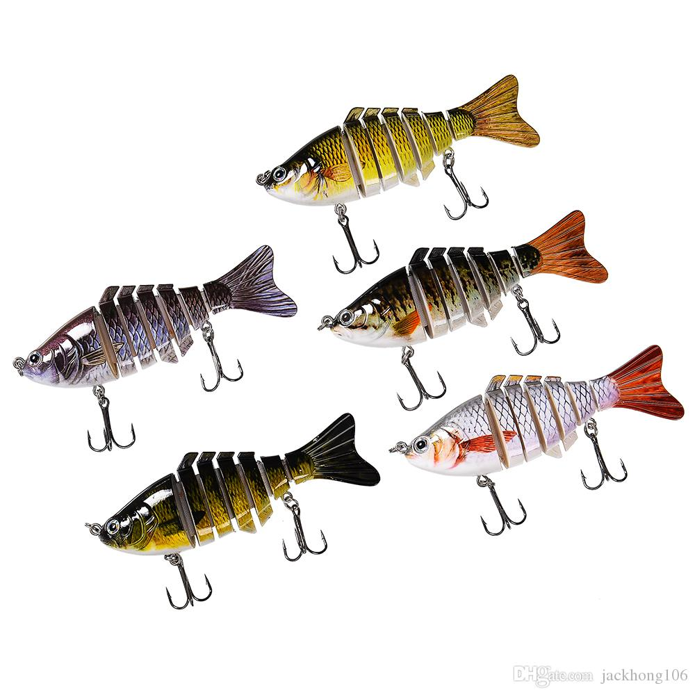 15.4g 10cm Trout Minnow Baits Artificial Swimbait 7 Sections Lifelike Jointed Shad Lure