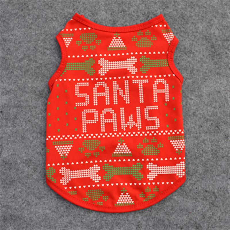 794a5d8bc151 2019 Christmas Festival Dress Pets Clothes Cotton Vest XS/S/M/L Size Cotton  Puppy Dog T Shirt Puppy Costume Clothes For Dog From Bassy168, $5.03 |  DHgate.