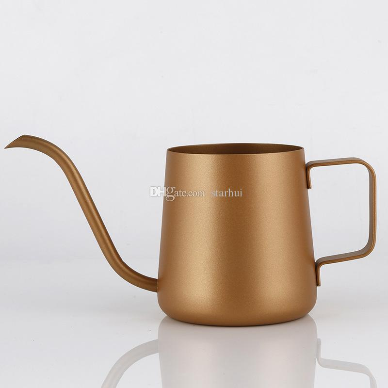 350 ml Coffee Pozo de acero inoxidable cuello de cisne de cuello de cisne sobre la cafetera Ear Drip Gotea Coffee Long Spout Pot Tea Herramientas de tetera WX9-350