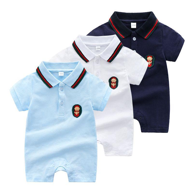 d39b142e1d49 Summer Wear Baby Clothes Short Sleeve Jumpsuits Newborn Boy And Girl ...