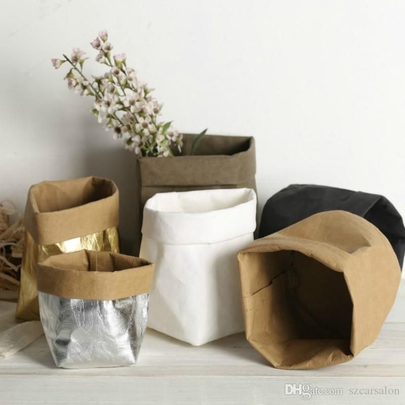 Charmant Washable Kraft Paper Bag Storage Bag Washed Craft Paper Organizer Flowerpot  Recycle Bag Reusable Eco Pouch Ballistic Cell Phone Cases Camo Cell Phone  Cases ...
