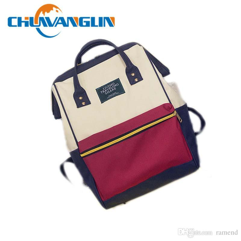 af5bcf9eff66 Wholesale Chuwanglin Canvas Printing Backpack Women School Bag Teenage  Girls Cute Bookbag Vintage Laptop Backpacks Female Hand Bag ZDD7253 Wheeled  Backpacks ...
