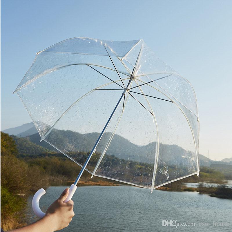 Стильная простота Пузырь Глубокий Купол Аполлона Прозрачный Зонтик Девушка Гриб Зонтик прозрачный пузырь Бесплатная доставка