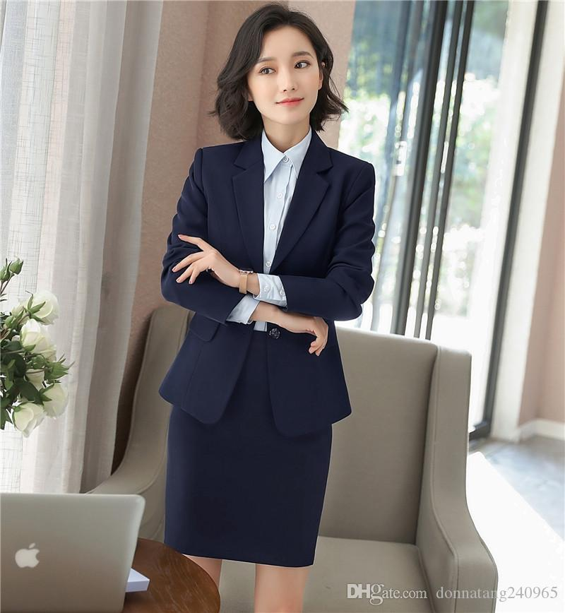 Suits & Sets Women Blazer Work Blue Plus Size Slim Fit Female Blazer And Jackets White 4xl Fashion Single Button Ol Style Office Suits Ma119 Professional Design Back To Search Resultswomen's Clothing