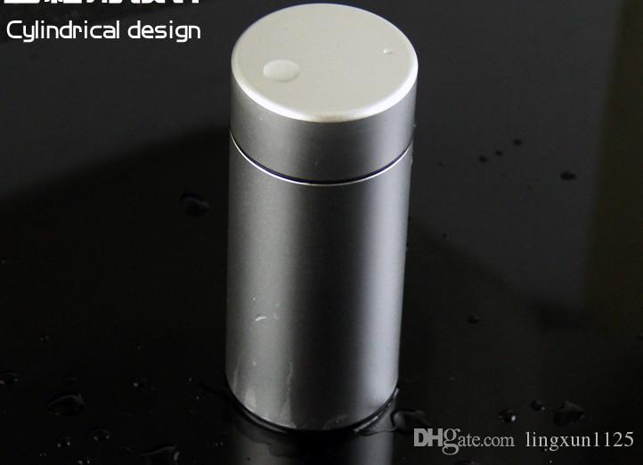 Creative 20 pack aluminum alloy cigarette case sealed waterproofing male metal portable circular chimney pot