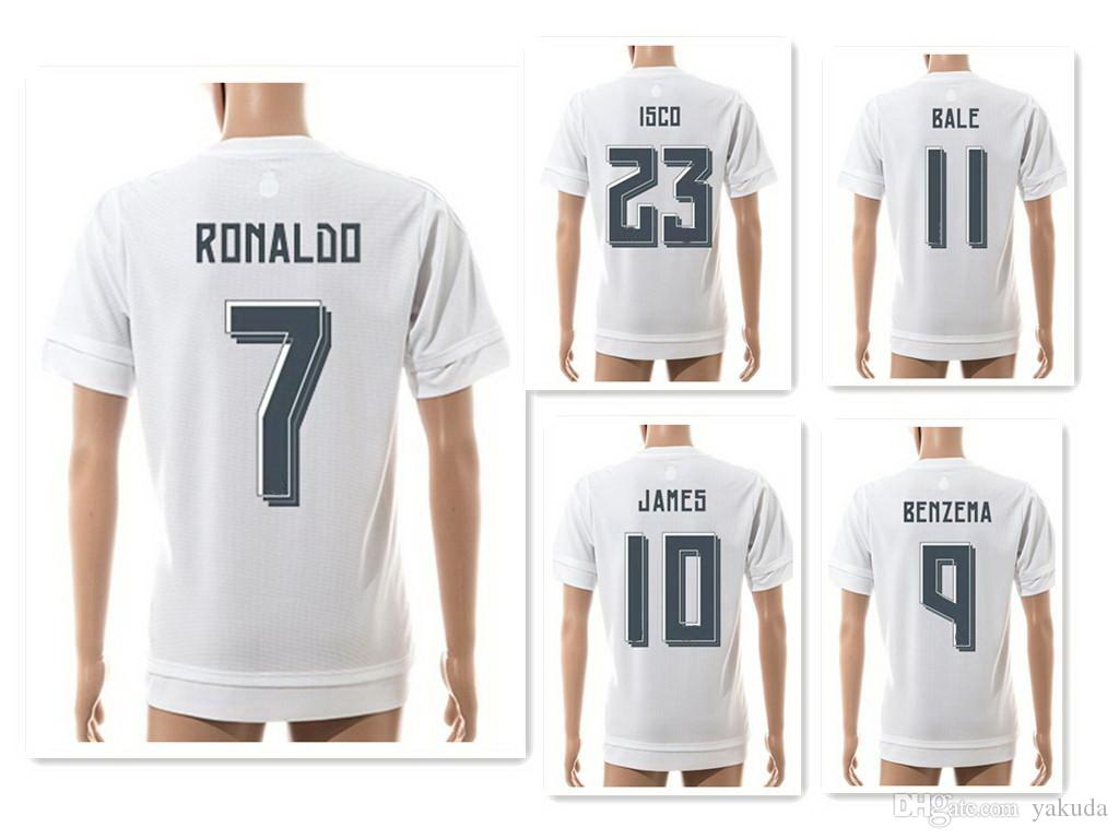 7a3204a03a8 2019 Wholesale 15 16 Season 7  RONALDO Athletic Soccer Jerseys Shirts