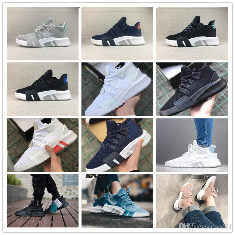 differently 9cac1 6443c NEW 2019 EQT BASK Support Sports Running Shoes for Women Mens All Black  White Grey eqt Knit Top Casual jogging Sneakers Size 36-45