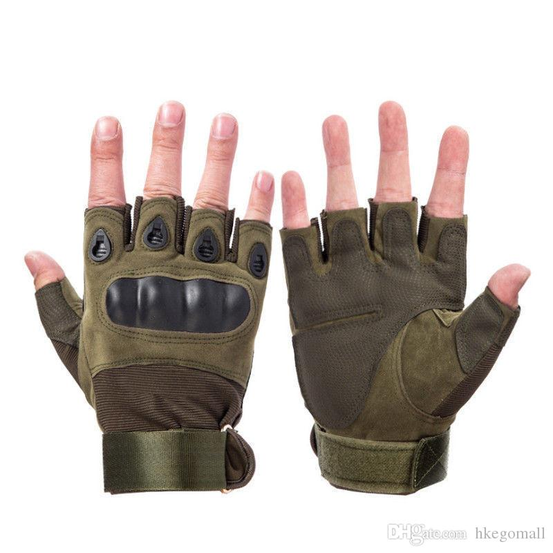 Military Tactical Hard Knuckle Halbfingerhandschuhe Herren Army Combat Hunting Schießen Airsoft Paintball Police Duty - Fingerless