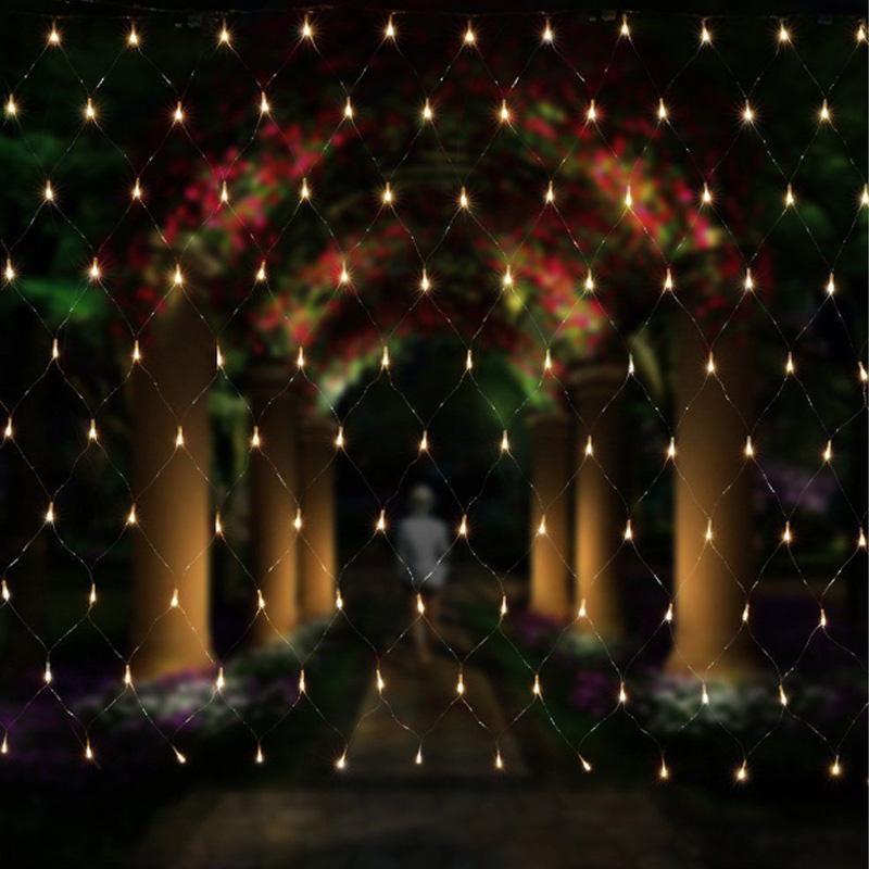 3 couleurs 3x2m 200 Leds 8 modes d'affichage 220V net led chaîne lumière festival Festival nouvel an cérémonie de mariage lumière UE Plug