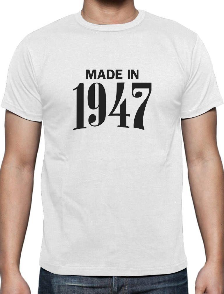 Made In 1947 Retro 70th Birthday Gift Idea Cool T Shirt Bday Present Casual Short Sleeve Shirt Tee Humor T Shirt Funny Ts From Abmosstore, $24.2| DHgate.Com