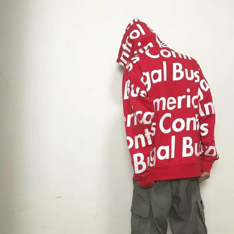2a45da2e5 18SS Fashion Zipper Jacket Hooded Sweatshirt Women Men Couple Outfit ...