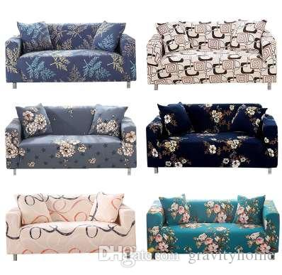 Superieur Flower Leaf Pattern Soft Stretch Sofa Cover Home Decor Spandex Furniture  Covers Decoration Covering Hotel Slipcover 023 Slipcover For Chair And  Ottoman Rent ...