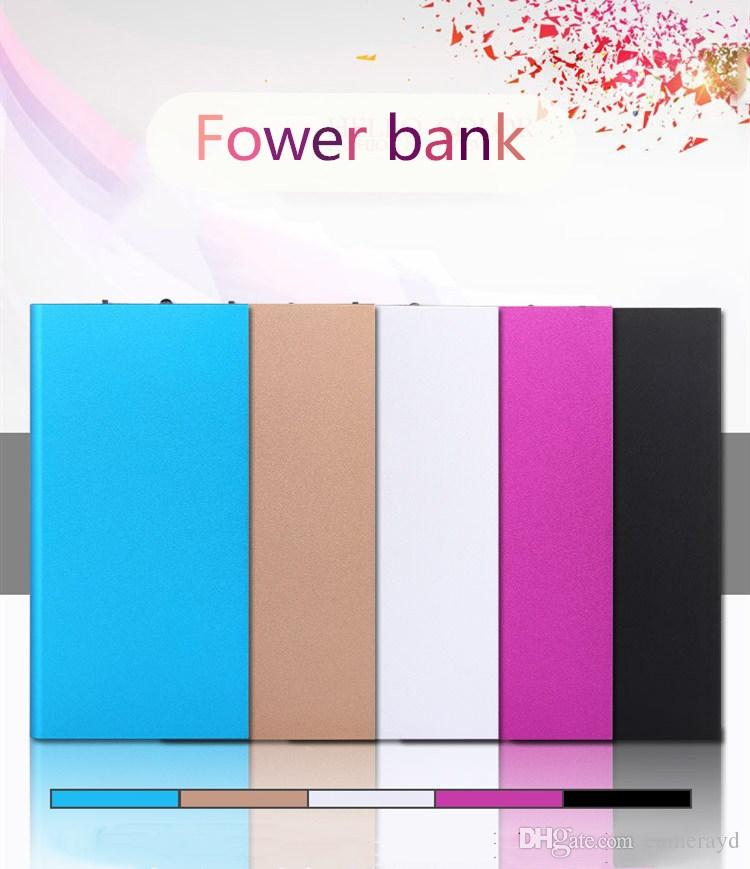 External Battery power bank 20000mAh Large capacity Ultra-thin Universal Mobile Powerbank Charger Battery For all mobile phone