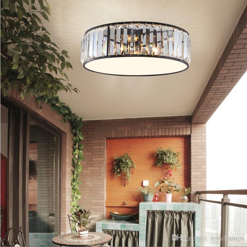 Acheter Américain Cristal Plafond Salon Plafonnier Rond Moderne Chambre  Lampes Éclairage Village Restaurant Plafonniers Moderne De $140.21 Du  Royallamps ...