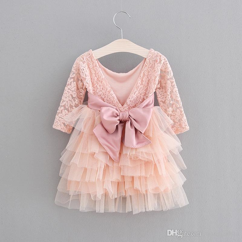 Baby Girls Dresses Clothes New Style Girl Dress Cute Sequin Sleeveless Vest  Princess Lace Dress Baby Kids Party Wedding Bridesmaid Vestido Women  Dressing ... be3be340b704