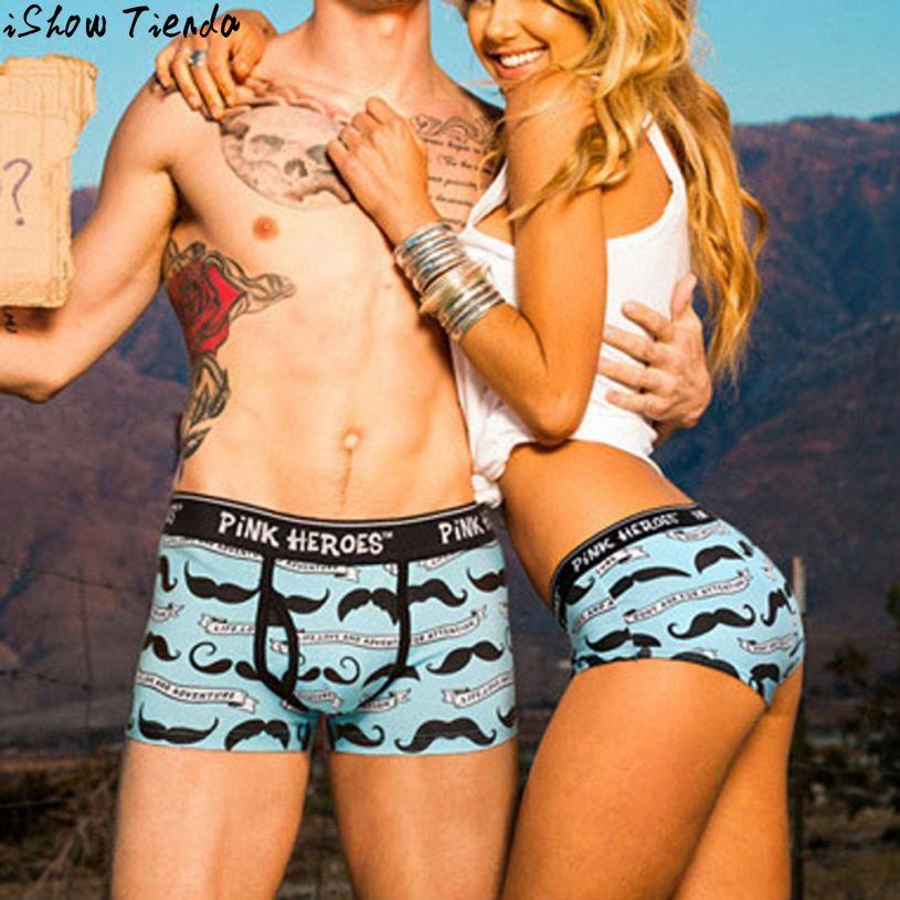 Couple Underwears Cartoon Printing Underpants Knickers Sexy Women Briefs Shorts Underwear Panties #2831