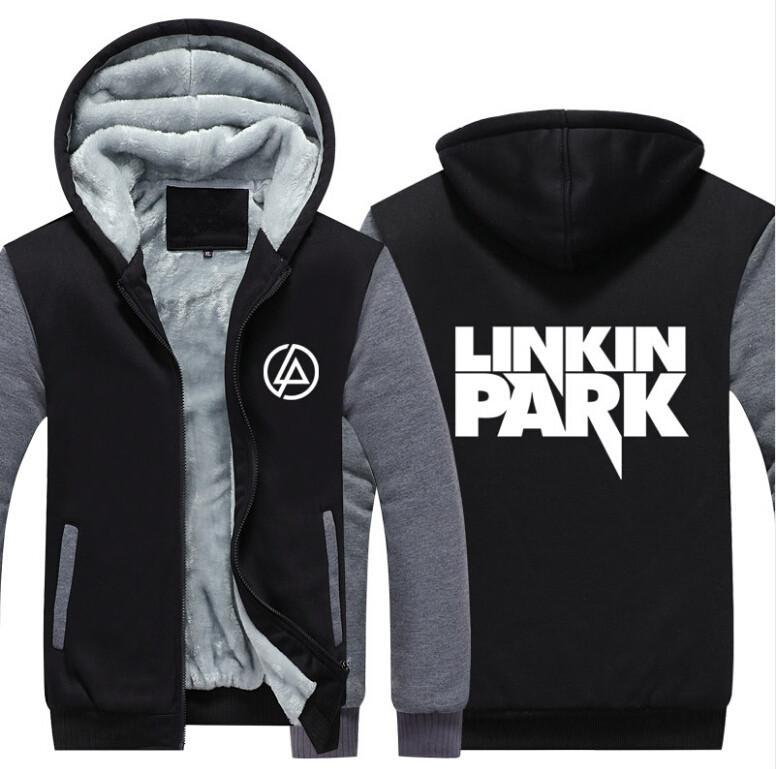 Compre 2018 Linkin Park Sweatshirt Warm Fleece Thicken Jacket Zipper Abrigo  Hoodies Sudaderas Chaqueta Hasta La Fecha A  48.73 Del Insideseam  6d2b1ac1e7a