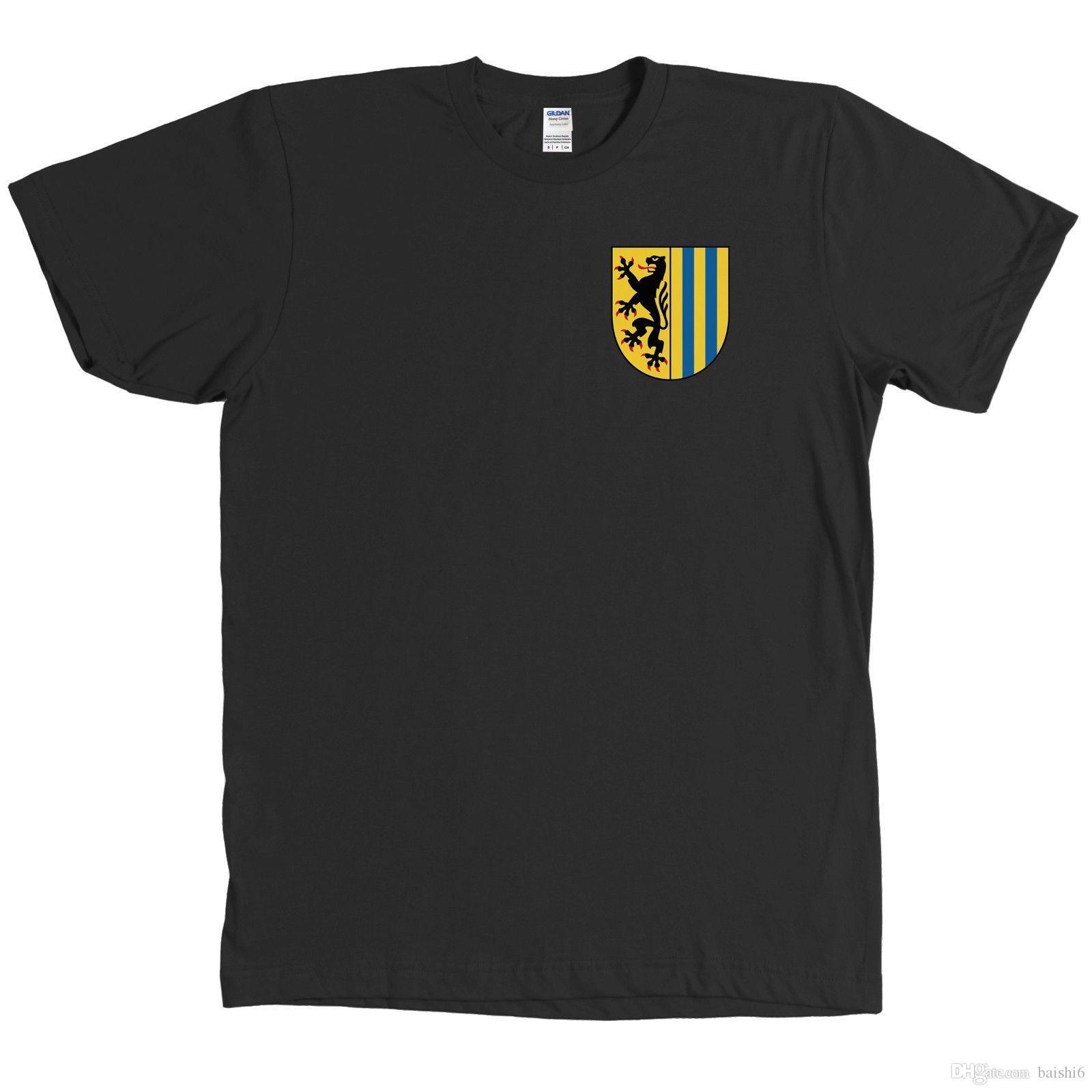 ace33f2bcd Compre Leipzig Saxônia Alemanha Brasão Camisa Fan Tee Mais Cores Short  Sleeve Mens Camisas Formais De Baishi6, $11.58 | Pt.Dhgate.Com