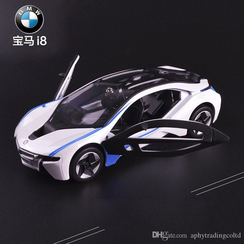 1 32 Scale Bmw I8 Sports Car Diecast Alloy Pull Back Car Collectable