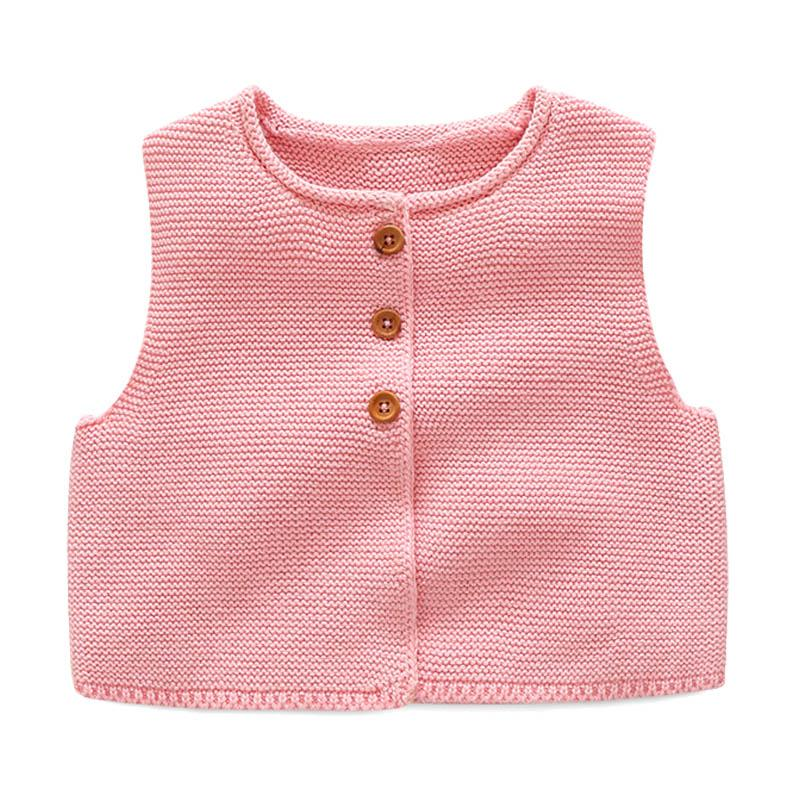 Fashion Style Kids Baby Casual Knitted Vest Coat Baby Boys Girls