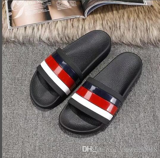 344010ad7 2018 Men Women Sandals Designer Shoes Luxury Slide Summer Fashion Wide Flat  Slippery With Thick Sandals Slipper Flip Flop US5 11 Winter Boots Cowgirl  Boots ...
