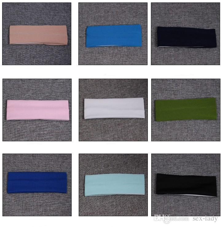 Elastizität Sport Haarbänder Stretch Stirnband Kopf Schweißbänder Kopfbedeckung Gym Zubehör Tennis Fitness Mädchen Sport Stirnbänder