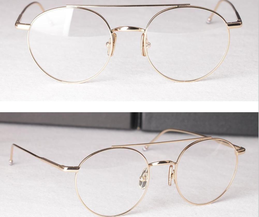 b945df43e6c Men Optical Glasses Frames Brand Designer Round Big Eyeglasses Frames for  Women Retro Myopia Reading Eyeglasses Frames with Clear Lens TB102