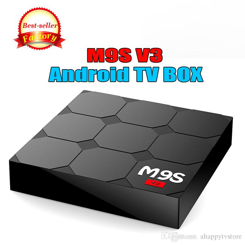 Hot New Box M9S V3 Smart TV Android 6.0 RAM 1G Rom 8G RK3229 Décodeurs quad-core HDMI Media Streaming Player 4K Wifi MIEUX TX3 MINI