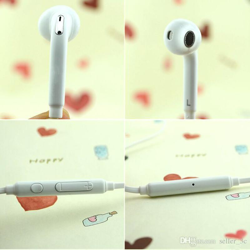 Auriculares estéreo de 3,5 mm PREMIUM SOUND / HIGH QUALITY de Samsung para Galaxy S6 S6 Edge - Viene con paquete comercial color blanco KKA1596