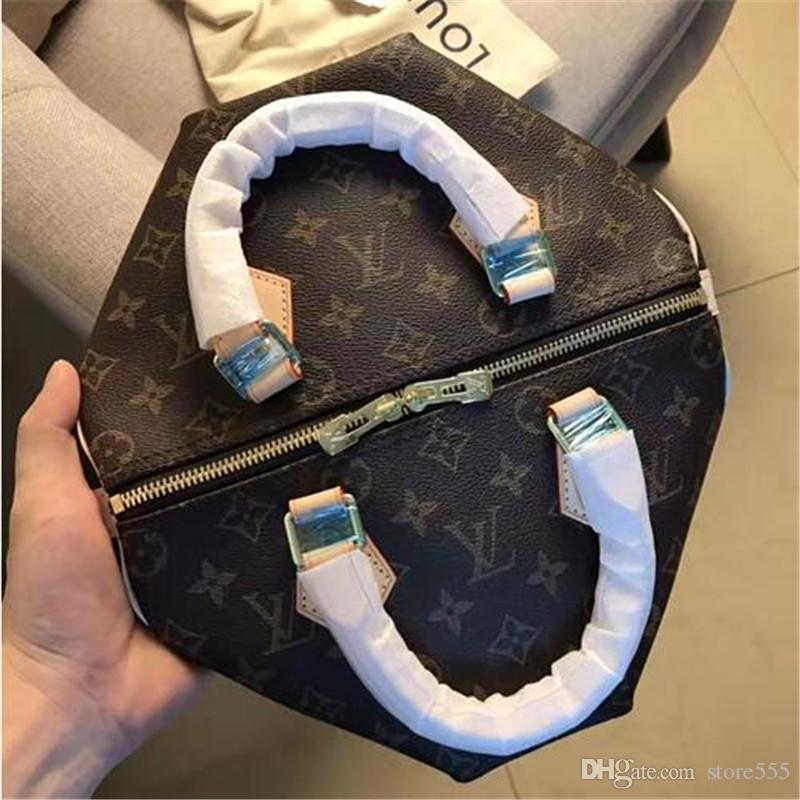 2019- Fashion Brand Designer Women Handbag Speedy 25 With Lock ... fb4bf1ecb35dc