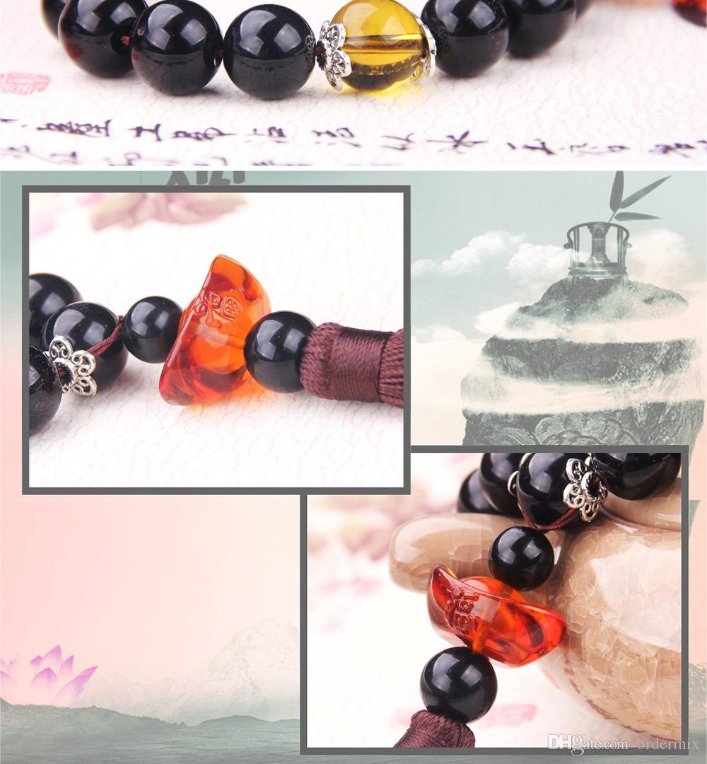 Car Pendant Chinese Style Crystal Auto Rearview Mirror Decoration Automobile Gear Stalls Beads Ornaments Car Hanging Accessories