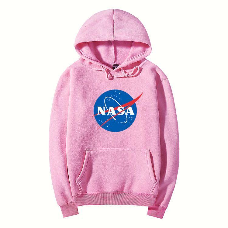 NASA Hoodie Streetwear Hip Hop Khaki Schwarz grau rosa weiß Kapuzen Hoody Herren Hoodies Sweatshirts Plus Größe XXL 11