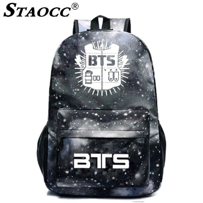 NEW Black Space Printing BTS Backpack School Bag For Teenage Girls Boys  Luminous Bookbag Student Satchel Notebook Travel Bagpack Dakine Backpack  Best ... 1e7861c5fb1b1