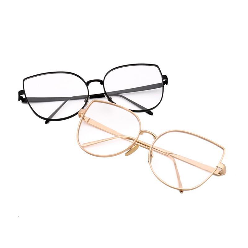 6e32c2d6e6b Mincl Cat Fashion Big Frame Metal Women Glasses Frame Personality ...