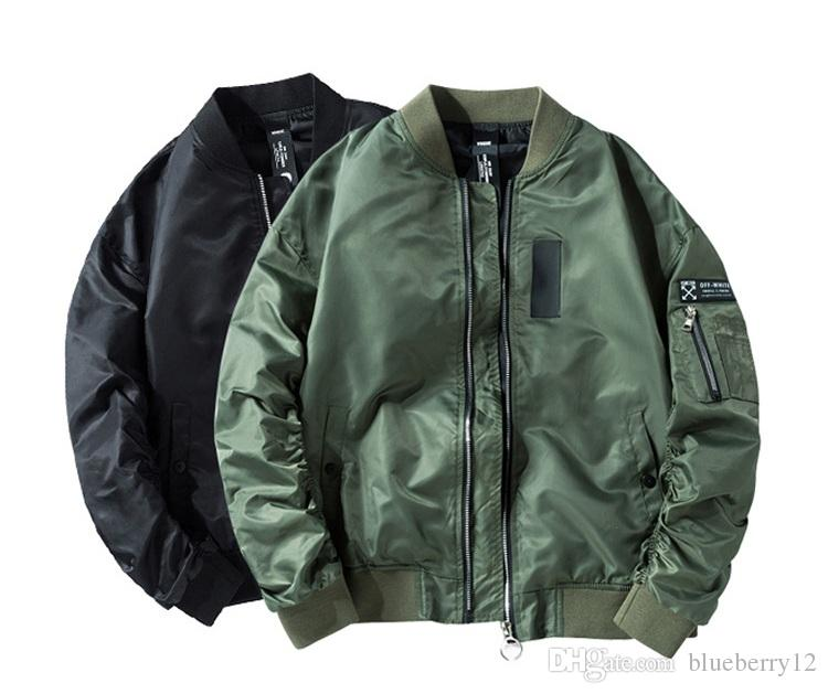 f9d142e33 Fashion Bomber Jackets for Men M-4XL MA1 Jackets Black Army Green Pilot  Coats Normal and Thick